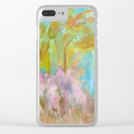 As Beautiful As The Day Is Long, Abstract Landscape Painting Clear iPhone Case