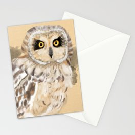 Short Eared Owl #2 Stationery Cards