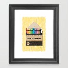 The White Crayon Framed Art Print