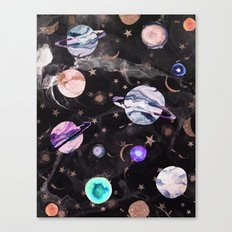 Marble Galaxy Canvas Print