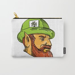 Leprechaun Head Side Drawing Carry-All Pouch