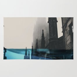 City under water Rug