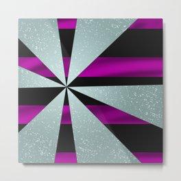 4Shades Glass: Purple Black Metal Print