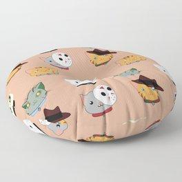 Slasher Kitties (Horror-movie inspired cats) - Pattern V. Floor Pillow