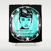 audrey Shower Curtains featuring Audrey by SwanniePhotoArt