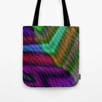 knit Tote Bags featuring Knit by RingWaveArt
