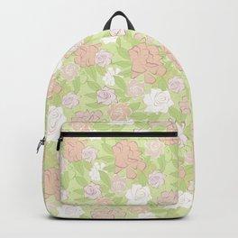 Jardín de Gardenias en rosa Backpack
