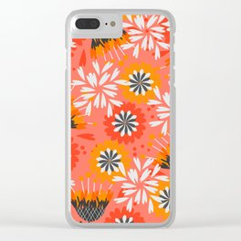 Sweet floral spring pattern Clear iPhone Case
