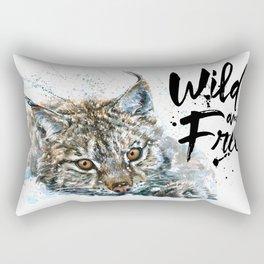 Lynx Wild and Free Rectangular Pillow