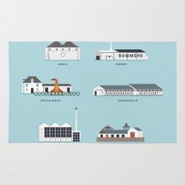 Whisky Distilleries of Islay Rug