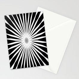 Starburst Black and White Pattern Stationery Cards