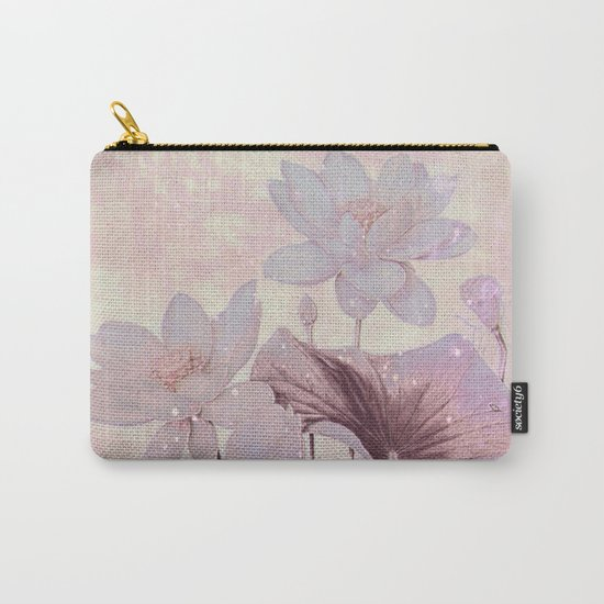 pastel waterlily Carry-All Pouch