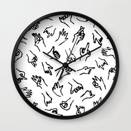 Bad Hands (White) Wall Clock