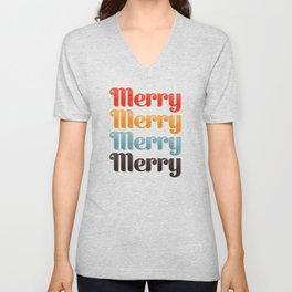Merry typography Unisex V-Neck