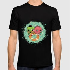 The Pond Lovers - Mr. Froggy and Ms Goldfish MEDIUM Black Mens Fitted Tee