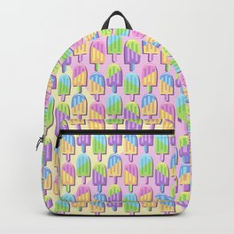 Ice Lollipops Popsicles Summer Punchy Pastels Colors Pattern Backpack