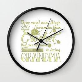 Crochet Grandma Wall Clock