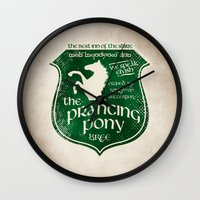 aragorn Wall Clocks featuring The Prancing Pony Sigil by Nxolab