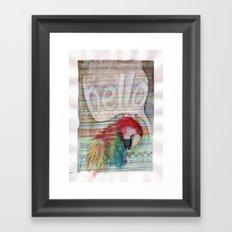 Hello Parrot Framed Art Print