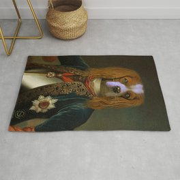 royal dog portrait english springer ,historical english springer Portrait , imperial english springer portrait painting, Renaissance dog Portrait, Classic, Memorial, as royal , Rug