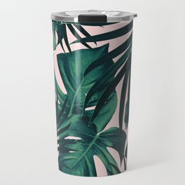 Tropical Jungle Leaves Pattern #5 #tropical #decor #art #society6 Travel Mug