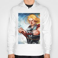 thor Hoodies featuring Thor by Boisson