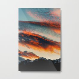 Sunset Over the Mountains (Color) Metal Print