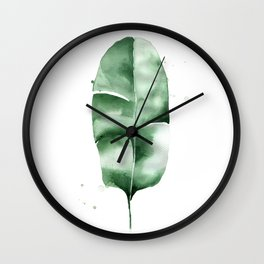 Banana Leaf no.5 Wall Clock