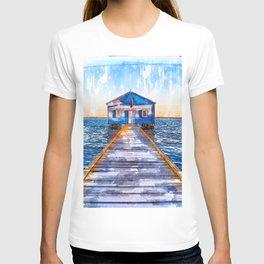Lake Jetty To Cabin USA - Jetties Around The World T-shirt