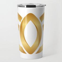 gold lotus Travel Mug