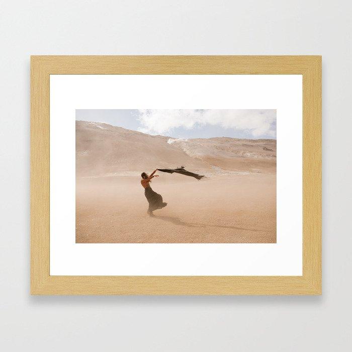 desert dust storm Framed Art Print