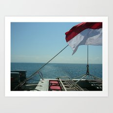 Indonesian Waters Art Print