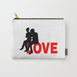 Love Funny Positive Sign Carry-All Pouch