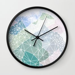 Multicolour Magic Mountains Wall Clock