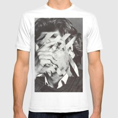 CONFUSING White MEDIUM Mens Fitted Tee