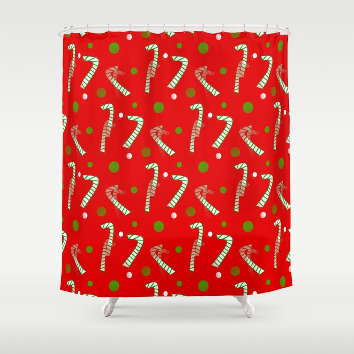 Dreams Of Candy Canes Shower Curtain By Kathleensartoris