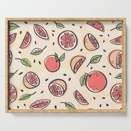Red Grapefruit for Breakfast Serving Tray