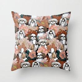 Because Shih Tzu Throw Pillow
