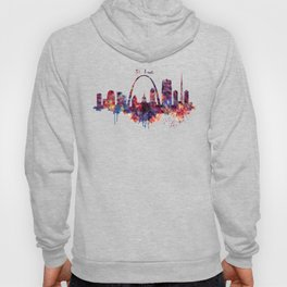 St Louis Watercolor Skyline Hoody