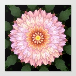 Abstract Zinnia Pink Canvas Print