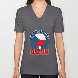 I'm Not Yelling I'm Czech Unisex V-Neck