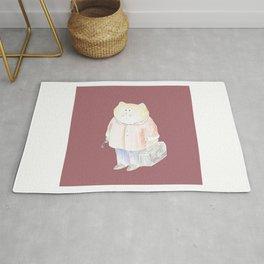 Traveling cat | Digital art Rug