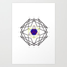 Sacred Geometry - Platonic Solids Structure Art Print
