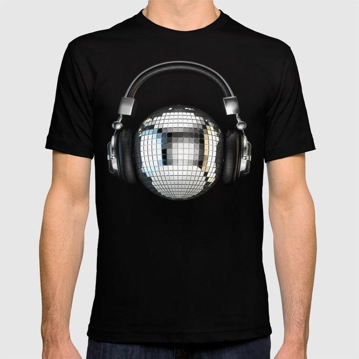 Headphone Disco Ball T Shirt By Grandeduc Society6