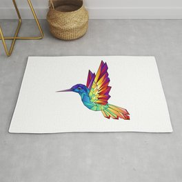 Rainbow Hummingbird Rug