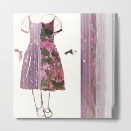 Lily's paper doll new dress Metal Print