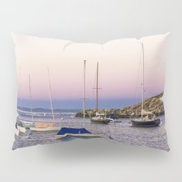 Earth's shadow over the harbor Pillow Sham