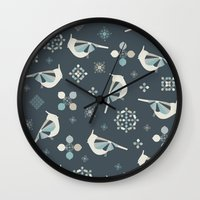 calendars Wall Clocks featuring Petit Birds by Poppy & Red