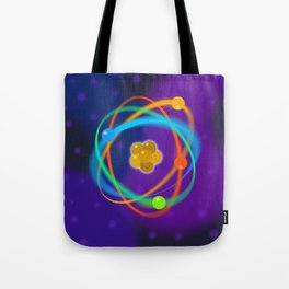 Atomic Structure Spots Tote Bag