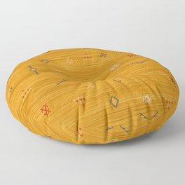 Cactus Silk In Gold Floor Pillow